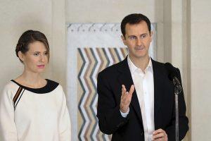B. Assado žmona atmetė pasiūlymą išvykti iš karo apimtos Sirijos