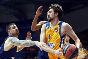 """""""Barcelona"""" krepšininkai išvykoje nugalėjo """"Chimki"""" ekipą"""