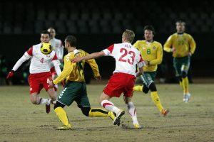 Lietuvos futbolo rinktinė birželį žais kontrolines rungtynes Lenkijoje