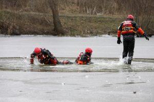AntTrinyčių tvenkinio ledo–gelbėtojų narų komanda