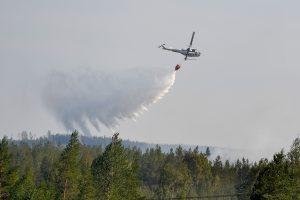 Dėl didelio miško gaisro Latvijoje – smogas Šiaurės Lietuvoje