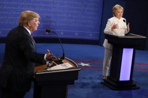 Lemtingi debatai: H. Clinton ir D. Trumpas įnirtingai kapojosi dėl Rusijos