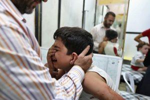 Sirijoje per aviacijos smūgius mokykloje žuvo 22 vaikai