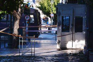 Graikijoje į Prancūzijos ambasadą mesta granata