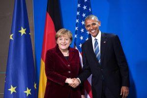 B. Obama ir A. Merkel pradėjo oficialius susitikimus Berlyne