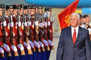 M. Pence'as: Rusijos remiami agentai bandė nužudyti Juodkalnijos premjerą