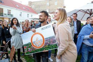 Vilniuje apdovanota milijoninė kelionė miesto dviračiu