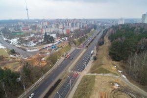 Pradėtas statyti viadukas per avaringą T. Narbuto gatvę (bus eismo pokyčių)