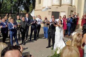 Olimpietis A. Kazakevičius susituokė su G. Lebedeva