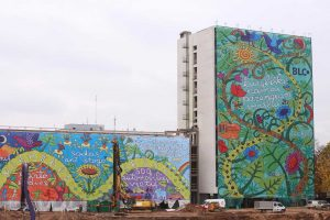 Kauno centre – milžiniškas menininko M. Jonučio piešinys