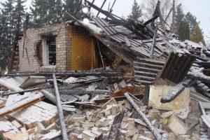 Skuodo rajone sprogimas nušlavė namą ir pražudė šeimininkę