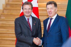 Premjeras padėkojo Maltos ordino kancleriui už paramą Lietuvai