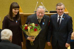 V. Adamkui ir V. Landsbergiui įteiktos Laisvės premijos