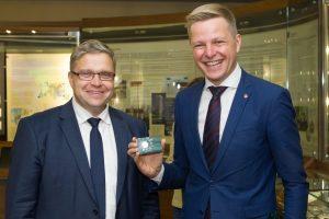 Moneta, skirta Vilniui, siunčia žinią apie klestinčią Lietuvos sostinę
