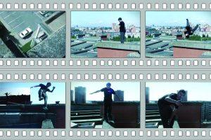 Ant stogo – šiurpūs jaunuolio salto