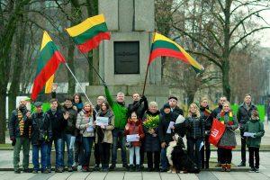 Kauniečiai miesto gatvėse išraižė Lietuvos vardą
