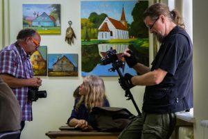 Unikaliame pamario miestelyje darbavosi dailininkai