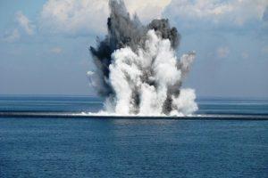 Baltijos jūroje kariai aptiko tris minas