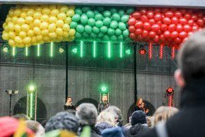 Laisvės šventės įžanga – kleganti eisena ir triukšmingas koncertas