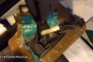 Marijampolės pareigūnai sulaikė 17 kilogramų narkotikų
