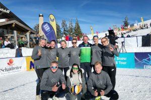 Lietuvės triumfavo pirmajame Europos sniego tinklinio čempionate