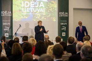 D. Grybauskaitė kviečia dalintis idėjomis šimtmečio Lietuvai