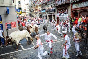 Bulių bėgimas Ispanijoje pareikalavo aukų