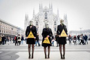 Prieš Milano mados savaitę – PETA protestas