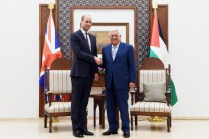 Princas Williamas susitiko su palestiniečių prezidentu