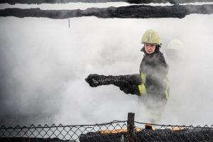 Ukmergės rajone kilo gaisras medžio apdirbimo įmonėje