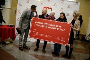 Šiemet Vilnius milijonojo turisto sulaukė greičiau