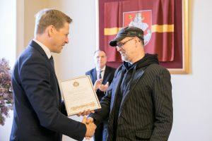 Sostinės mero premija įteikta D. Pocevičiui