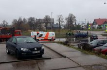 Avarija Šiaurės prospekte: vairuotojas pripūtė beveik 3 promiles