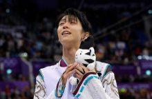 Y. Hanyu apgynė dailiojo čiuožimo olimpinio čempiono titulą
