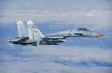 NATO naikintuvai šešis kartus lydėjo Rusijos karinius orlaivius