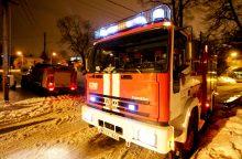 Vilniuje per gaisrą nukentėjo moteris
