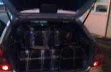 Vyriškio bagažinė buvo prigrūsta 18 tūkst. eurų vertės kontrabandos