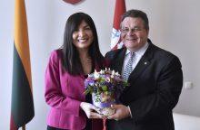 Kadenciją baigia Gruzijos ambasadorė K. Salukvadzė
