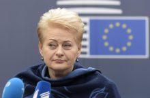 Gruzijos prezidentas prašo D. Grybauskaitės paramos