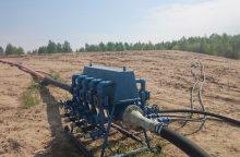 Pradėta tvarkyti užteršta karinė teritorija Panevėžio rajone