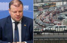 Premjeras: automobilių mokestis sužlugdytų didžiąją dalį gyventojų