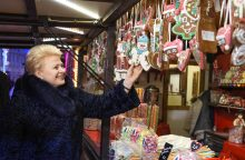 Prezidentė kviečia į kalėdinę labdaros mugę