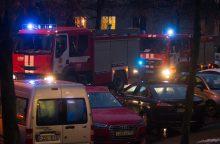 Naktį per gaisrą name Vilniaus centre žuvo vyras