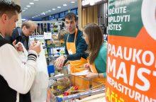 """""""Maisto bankui"""" žmonės paaukojo produktų už 370 tūkst. eurų"""