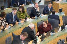 Politologė: Seimo komitetų sudėčių perbraižymas virto cirku