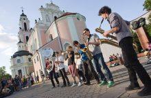 Vilniaus Pilies gatvės muzikantai: per valandą galima uždirbti ir 30 eurų