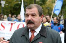Profesinės sąjungos mitinge reikalavo didinti algas
