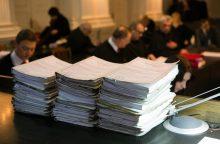 Kaip specialusis liudytojas apklaustas teisėjas išleistas atostogų
