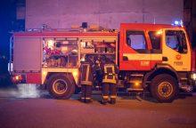 Vilniuje padegti šiukšlių konteineriai, liepsna persimetė į automobilį