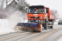 Kokios kelių priežiūros priemonės taikomos žiemą?
